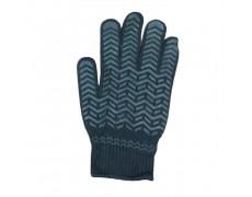 HS-Găng tay len chấm nhựa chéo (Màu đen) 60gr size L (1 bịch 12 đôi)