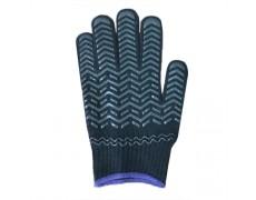 HS-Găng tay len chấm nhựa chéo (Màu đen) 50gr (1 bịch 12 đôi)
