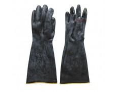 CN-Găng tay công nghiệp chịu axit và kiềm nhẹ màu đen size L 40cm